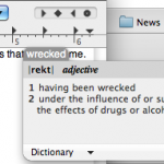 It helps to have a dictionary pop-up on the fly